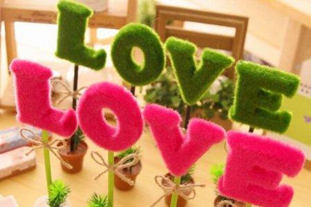 韓國創意禮品 LOVE盆栽筆 造型筆
