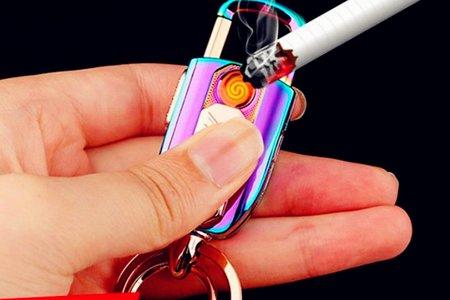 沁琳婚禮小物 鑰匙扣打火機 可換鎢絲USB充電防風打火機 電子點煙器 父親節禮物  #長輩禮 #伴郎禮 #兄弟麻吉禮