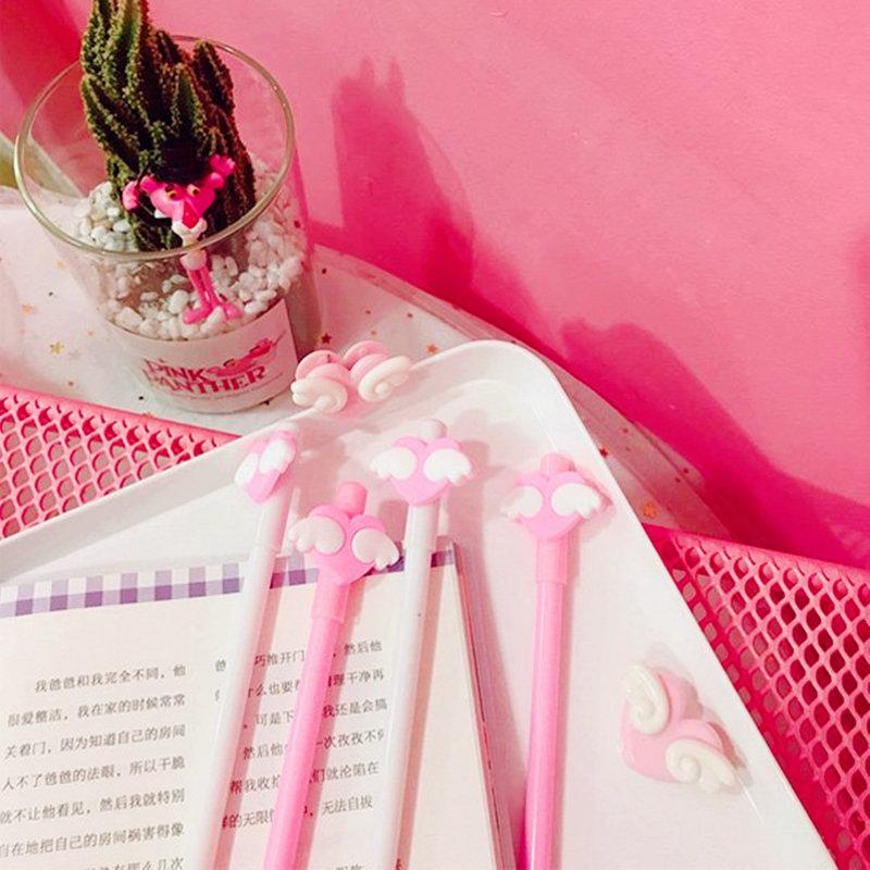 沁琳婚禮品 現貨 夢幻粉色愛心翅膀中性筆