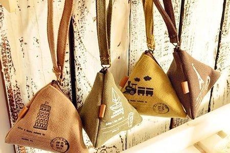 沁琳婚禮小物 現貨 復古歐風挪威三角帆布粽子零錢包