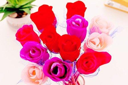 沁琳婚禮小物 仿真塑膠玫瑰花紗網原子筆 圓珠筆 不挑款 沁琳婚禮品