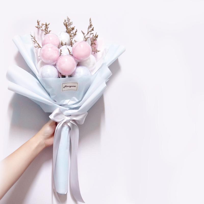 沁琳婚禮情人節棉花糖花束/新娘棉花糖花束作品