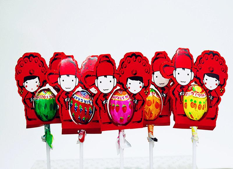 喜氣洋洋中國風新郎新娘組 一律包裝完整出