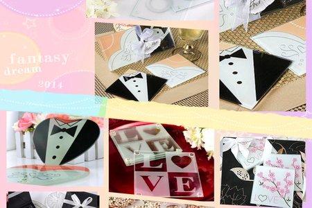 歐美婚禮小物 杯墊簡易與精裝包