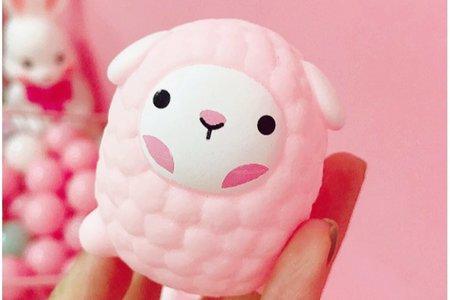 可愛小豬頭發泄捏捏叫 小綿羊嗶嗶叫玩具