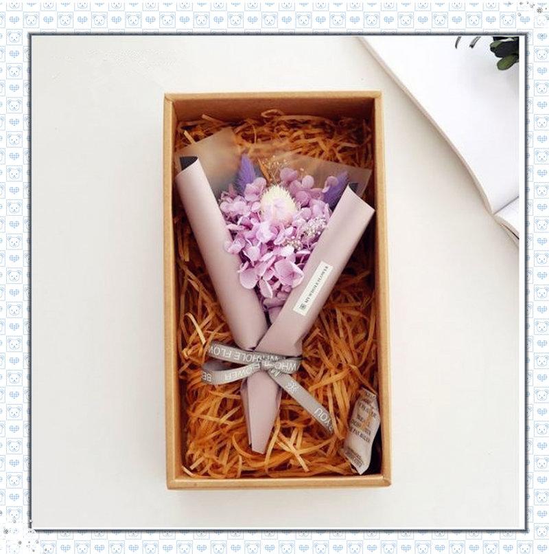 繡球永生花束禮盒 LED燈繡球花造花束禮