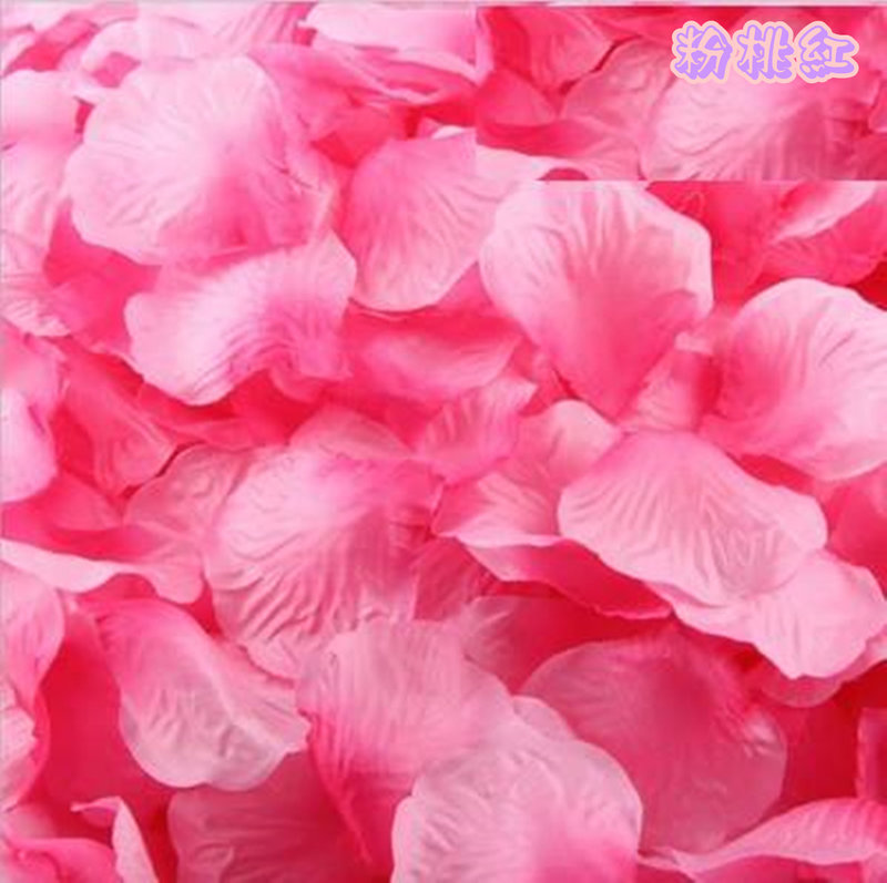 粉桃混紅漸層