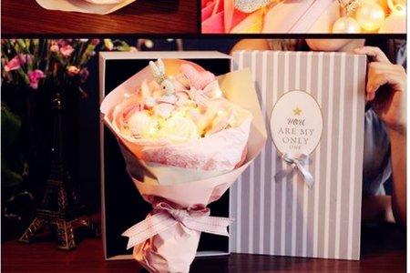新進小禮 玫瑰花兔兔花禮盒 永生香皂花束