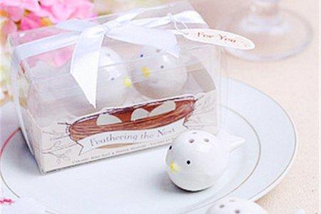 可愛圓型 喜鵲調味罐 姐妹禮 婚禮小物