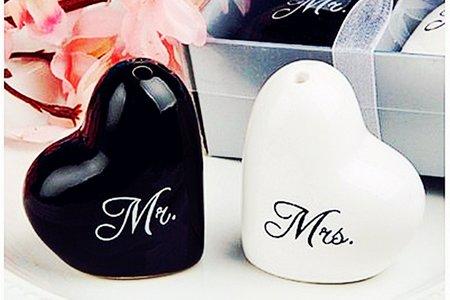 先生小姐愛心調味罐 人氣婚禮小物/送客禮