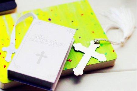 新品歐美婚禮小物 高級書本盒裝 十字架書