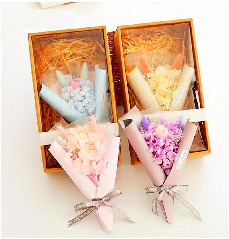 繡球永生花束-禮盒