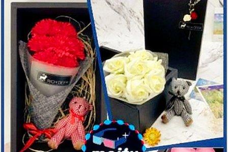 玫瑰花束熊 玫瑰花束小禮盒  香皂花束