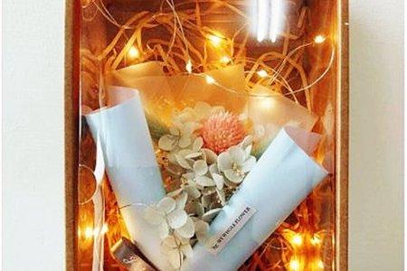 繡球花 永生花 +LED燈串禮盒 婚攝拍