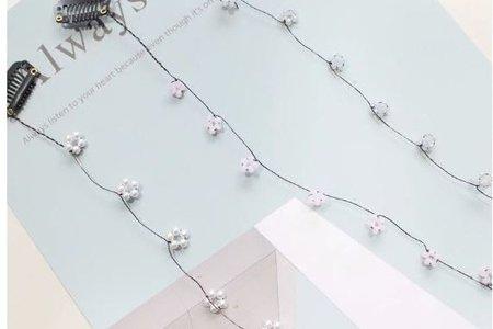 韓國 超仙水晶花朵髮梳 長髮編