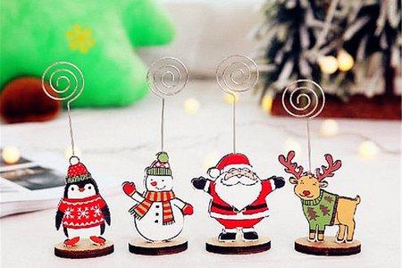 叮叮噹叮叮噹~聖誕節橢圓形底麋鹿企鵝木質