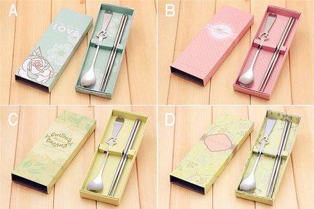 韓風兩件式餐具禮盒 獨特風雅 清新脫俗餐