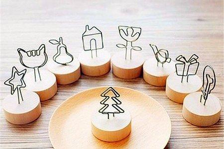 新進款-日式Wood memo天然木鐵藝可愛造型