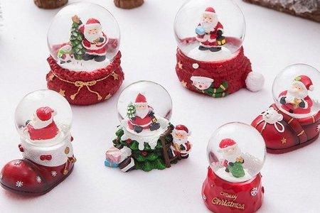 聖誕節老人麋鹿雪花水晶球 (聖誕樹)