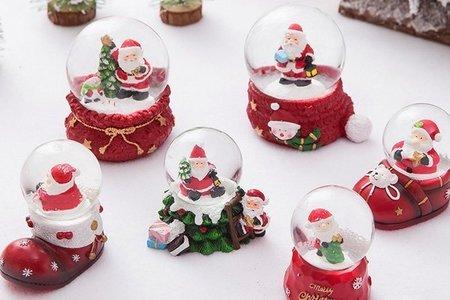 聖誕節老人麋鹿雪花水晶球 (靴子 紅鞋)