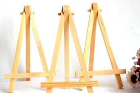 微型桌面三角畫架木質手機座 席位座