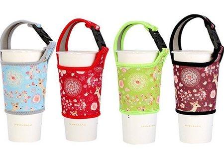 手搖杯杯套 環保飲料提袋 (小花圖案款)