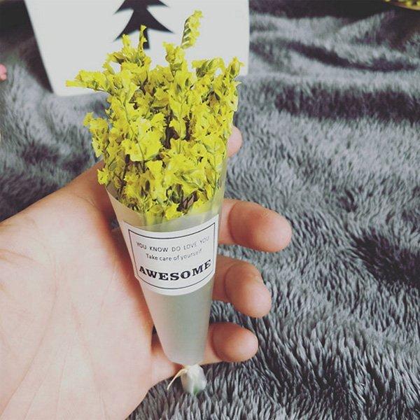 迷你乾燥花 水晶草 花束 拍照道具