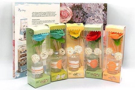 現貨日式玫瑰花朵 花香系列香氛 擴香套組