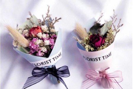 乾燥玫瑰花束 不凋花 甜筒 mini