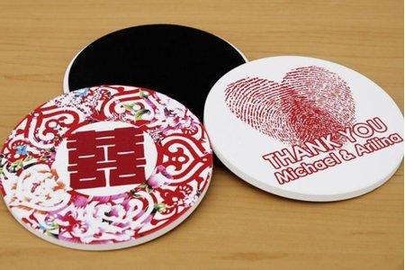 台灣檢驗合格吸水杯墊-附贈優質印刷盒子