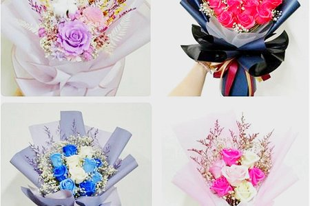 平價花束 香皂花束 乾燥花束 (附提袋和