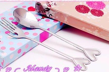 婚禮餐具 商標權-兩件式愛戀造型餐具禮盒