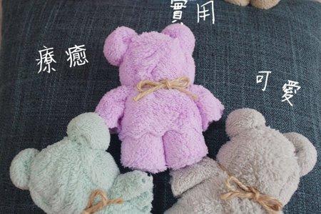 #可愛泰迪熊毛巾台灣手工製作&囍字沐浴棉