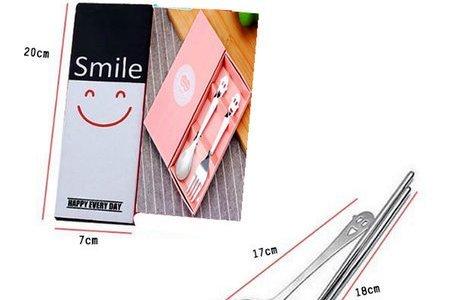 #日風黑白笑臉餐具組 #甜美風粉色餐具