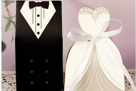 歐式新郎新娘喜糖盒 婚禮小物