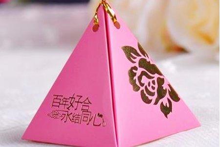 最後數量有限 鑽石與三角造型喜糖盒附喜糖