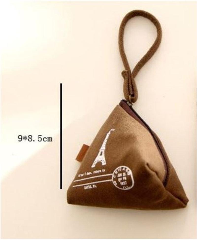 現貨限量 復古歐風三角帆布 創意三角棉麻