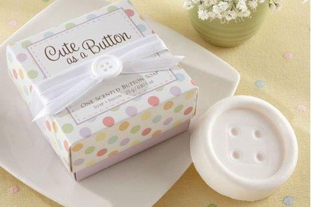 歐美婚禮小物 鈕扣 雪花 典蔵小香皂