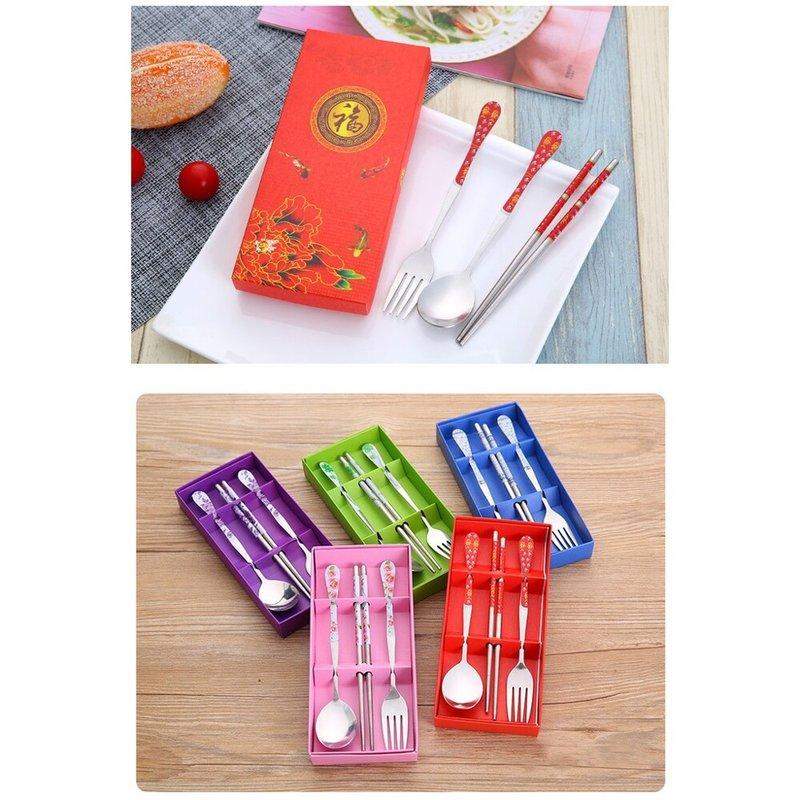 💟振興方案💟 紫色玫瑰情緣 禮盒餐具