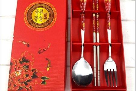 🌺 振興方案🌺 中國風禮盒餐具3件組