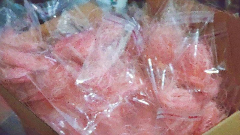 高級粉色拉菲草分裝包
