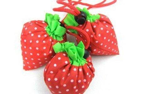主打大小整顆草莓購物袋/環保袋/婚禮小物