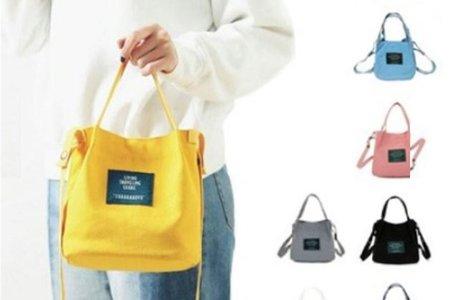 本月特價-韓國 字母帆布包 可愛文青日系