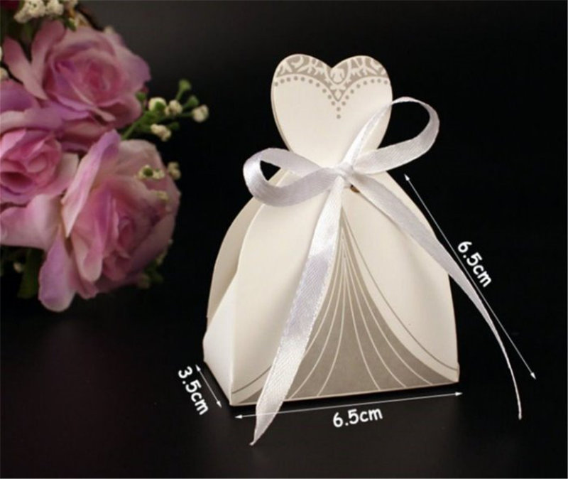歐式創意新娘禮服+新郎西裝喜糖盒