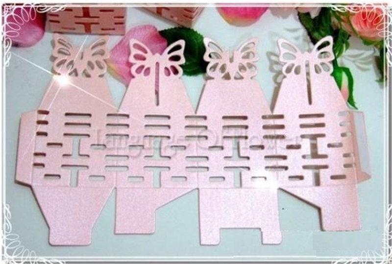 四面鏤空囍字喜糖盒
