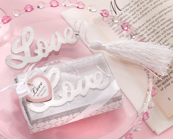LOVE書寫體流蘇書籤禮盒