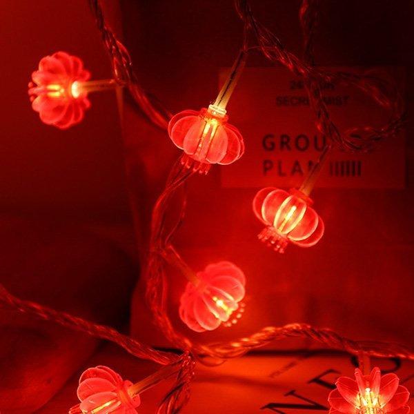 小紅燈籠LED燈串裝飾燈 餐廳 店面佈置