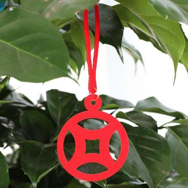 不織布小燈籠盆栽掛飾