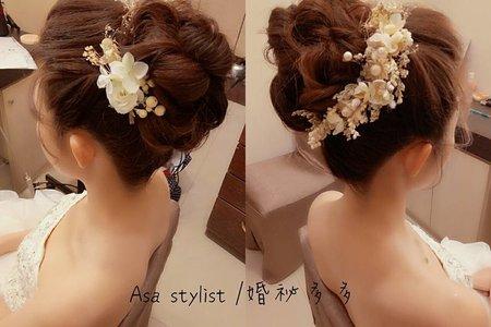 婚紗照 #婚祕多多/Asa stylist   歐美/法式編髮線條⭕全台皆可到府服務新娘整體造型~