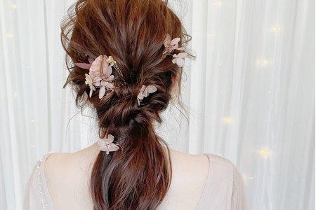 乾燥花髮型設計